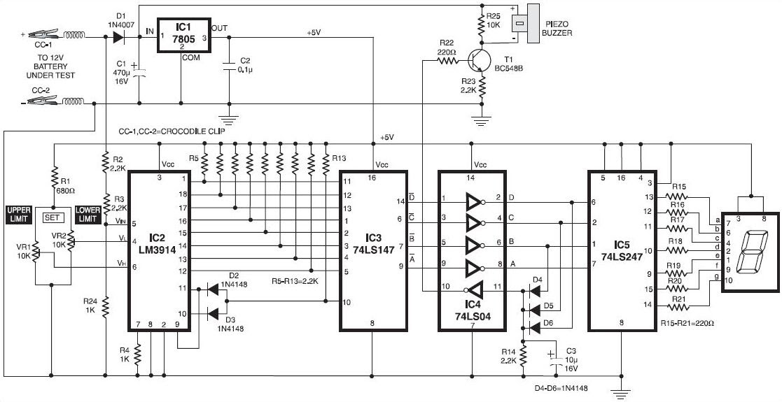12v Lead Acid Battery Charger Circuit Diagram HP
