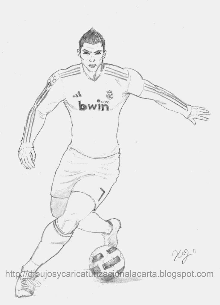Cristiano Ronaldo Coloring Pages : cristiano, ronaldo, coloring, pages, Cristiano, Ronaldo, Printable, Coloring, Pages