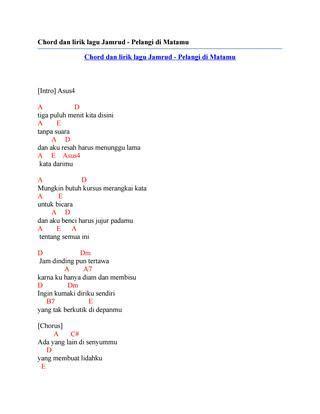 Kunci Gitar Jamrud 30 Menit : kunci, gitar, jamrud, menit, Chord, Gitar, Pelangi, Matamu, Chordfrenzy