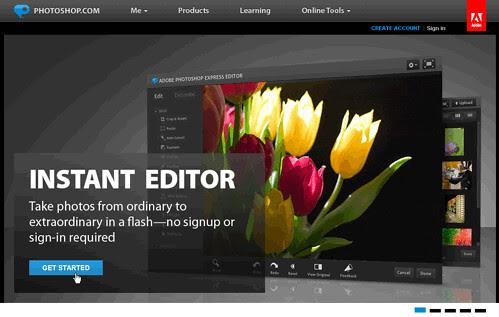 Adobe Photoshop Express線上免費免安裝軟體.免註冊流暢修圖