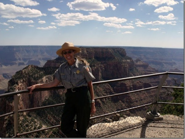 09 June Ranger Gaelyn at Cape Royal with Wotons Throne in background NR GRCA NP AZ (1024x767)