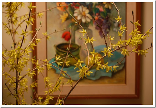 forsythia painting