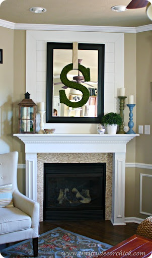 Over The Fireplace From Thrifty Decor Chick