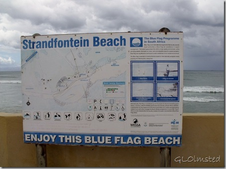 Strandfontein Beach sign False Bay R310 Cape Pennisula South Africa