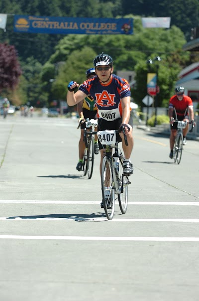 Finishing my first century ever!!! reaching Centralia College