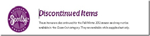 Scentsy discontinued summer 2012