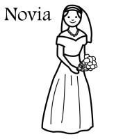 Novios de boda para colorear - Imagui