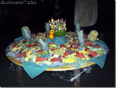 Survivor party fruit table Grand Lodge North Rim Grand Canyon National Park Arizona