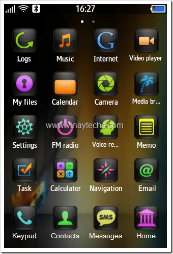 android green theme-download samsung corby 2 themes