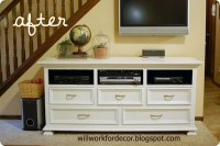 will work for decor: dresser to entertainment center