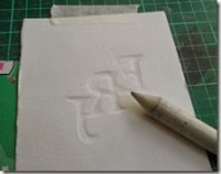 Embossed paper tutorial monogram