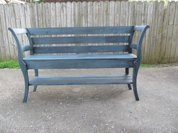 how to build a double chair bench by MyRepurposedLife.com
