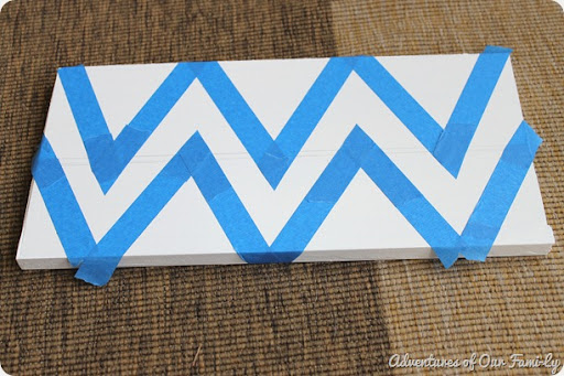 chevron stencil using painter's tape