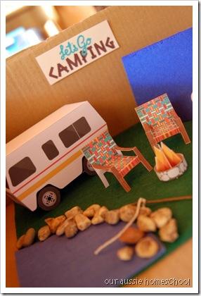camping sensory bin