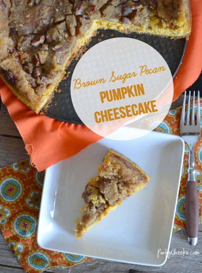 Brown Sugar Pecan Pumpkin Cheesecake -- www.poofycheeks.com