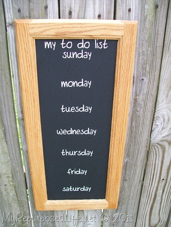 Chalkboard To Do List