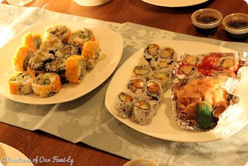valentine's date sushi