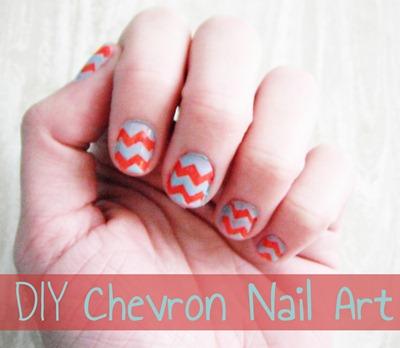 sewcal mama diy chevron nail art