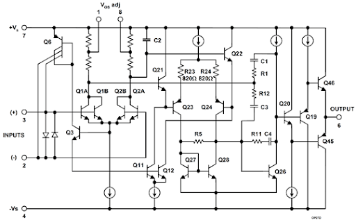 monolithic ic electronic circuits and diagramelectronics projects
