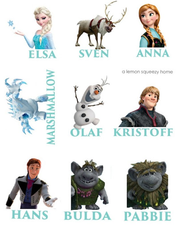 Frozen Characters Game Final