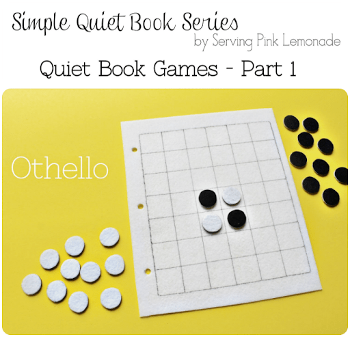 Simple Quiet Book Series with Serving Pink Lemonade
