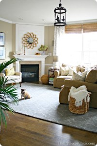 The new family room (rug) from Thrifty Decor Chick