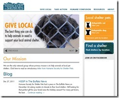 Humane Society for Shelter Pets - Internet Explorer provided by Dell 1132012 35535 PM.bmp