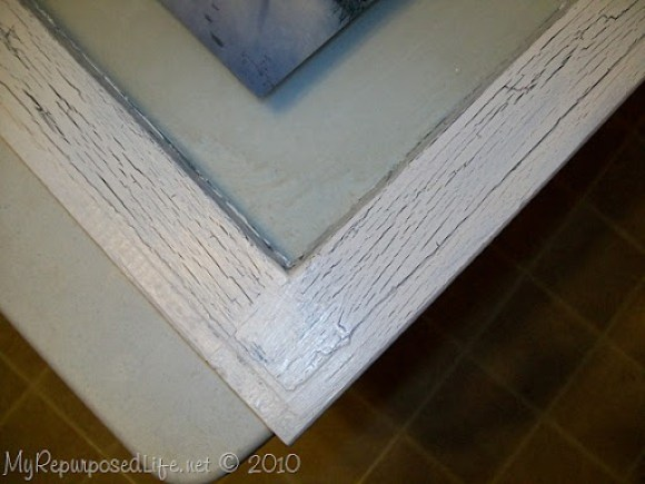 crackle finish with white glue