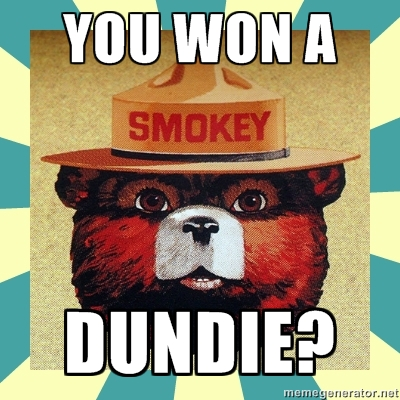 You won a dundie?