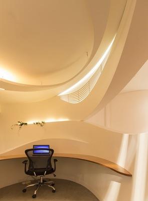 arquitectura formas organicas Centro Médico Edgecliff