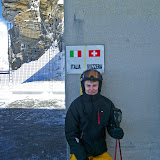 Italy - Swiss border on Plateau Rosa (3.480 m)
