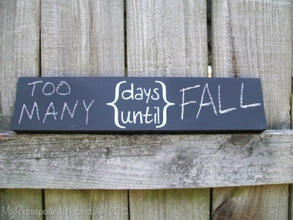 days until chalkboard sign