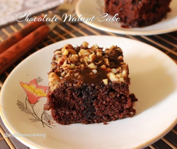 Chocolate Walnut Cake1