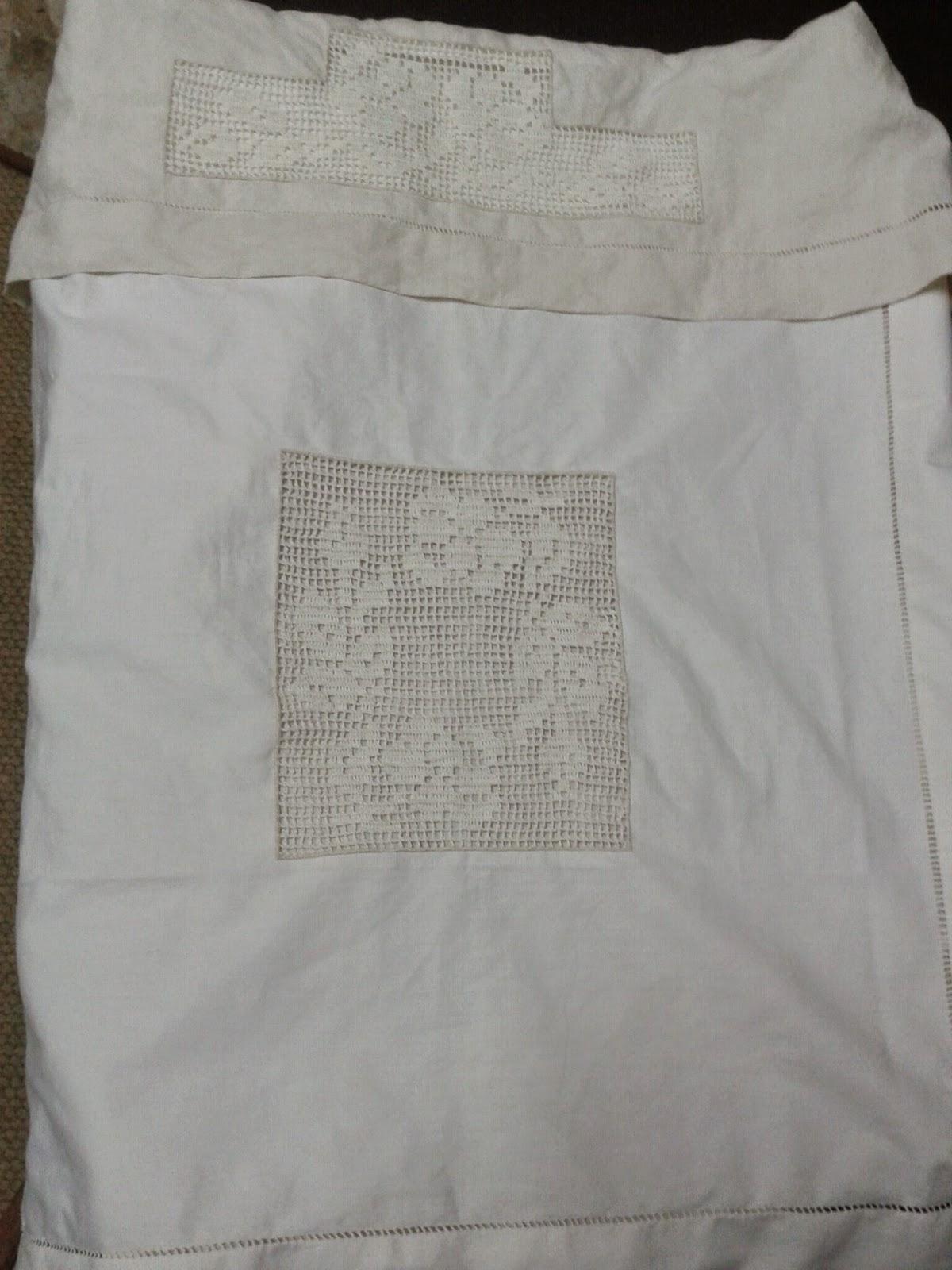 VecchieTradizioniaMano copertina e lenzuolo lino e filet