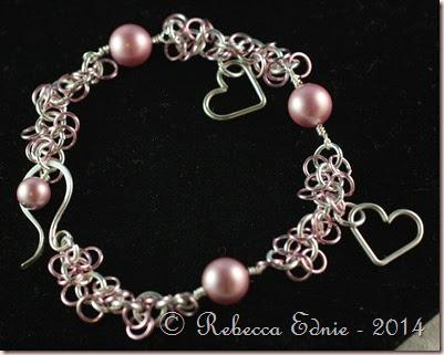 pearls n hearts bracelet