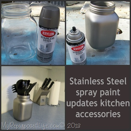 My Repurposed Life-Stainless Steel Spray Paint