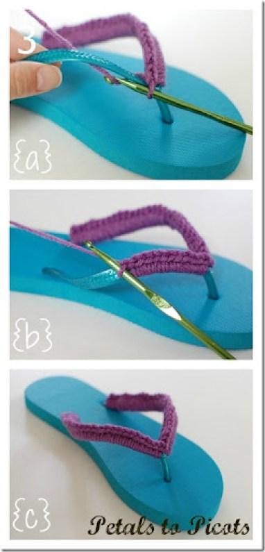 crochet flip flops pattern