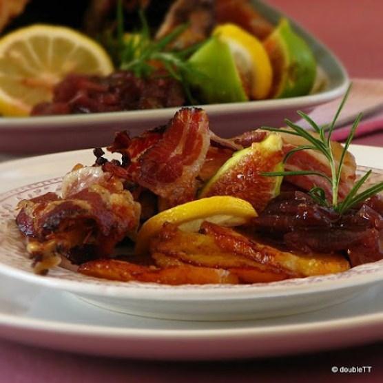 fazan sa slatkim od crvenog luka i smokava