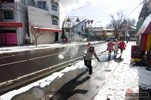 日本輕井澤街頭雪仗