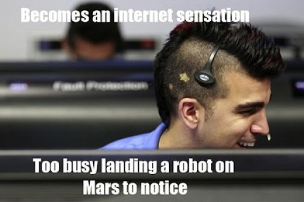 Curiosity mohawk meme Guy