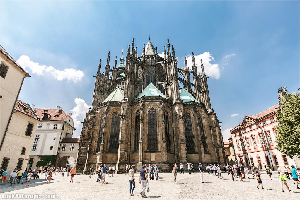 Прага. Собор Святого Вита. Восточная сторона