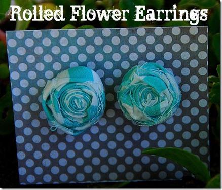 rolled flower earrings