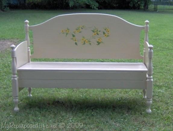 repurposed maple bed