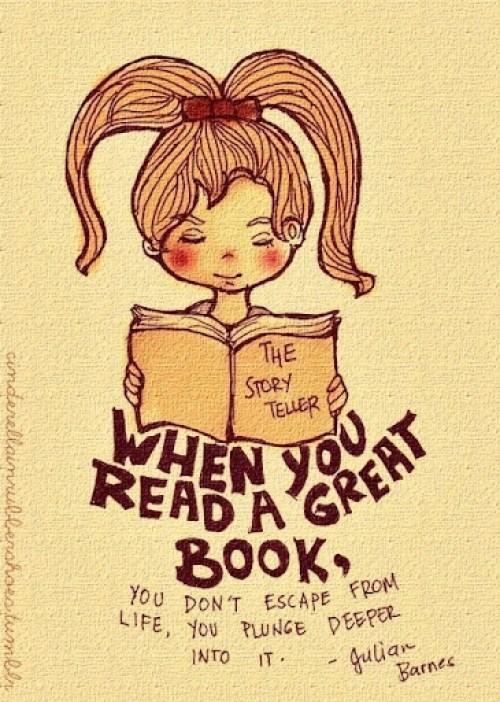 Cuando lees un buen libro