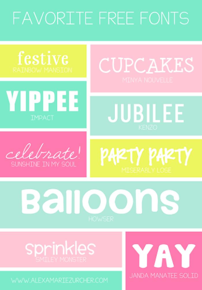 favorite free fonts from alexa zurcher