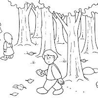 HANSEL AND GRETEL COLORING PAGES