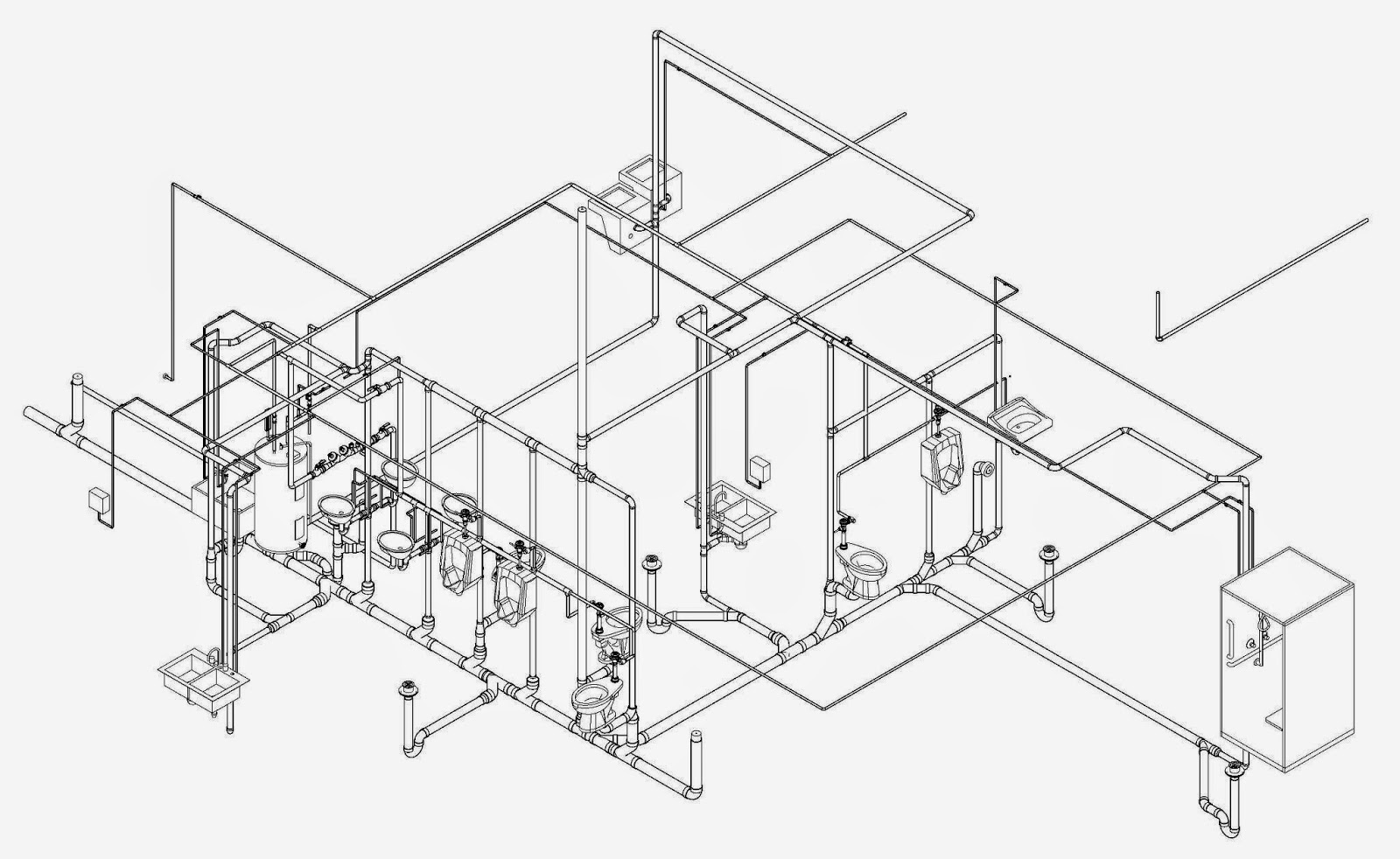 Plumbing Contractor Los Angeles Isometric Plumbing Sketch
