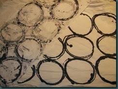 Monoprinted circles