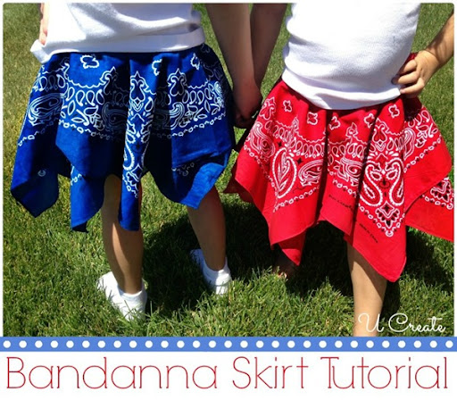Bandanna Skirt Tutorial by U Create