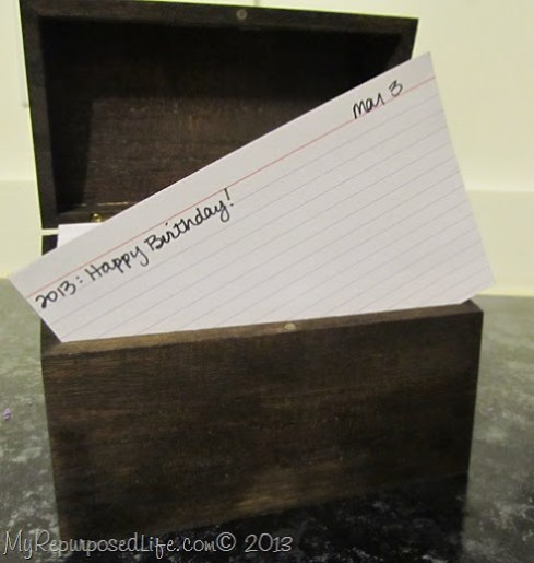 perpetual calendar recipe box